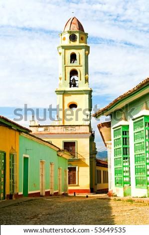 the view of Trinidad, Cuba - stock photo