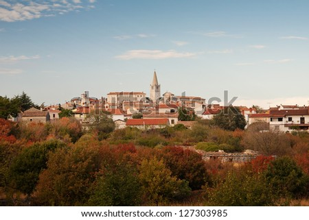 The view on city Bale - Croatia - stock photo