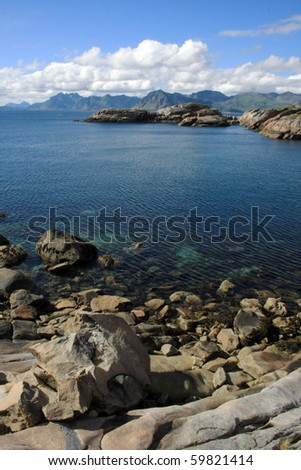 The view on the Lofoten islands, Norway - stock photo