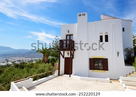 The villa at luxury hotel, Crete, Greece - stock photo