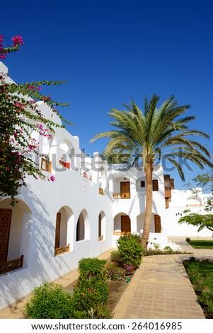 The villa at luxury hotel, Sharm el Sheikh, Egypt - stock photo