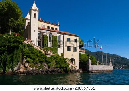 The Villa del Balbianello on Lake Como, Italy - stock photo