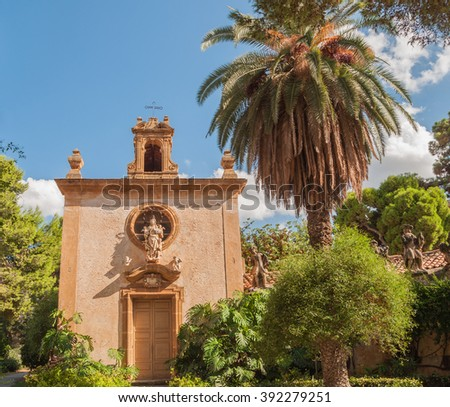 The Villa Palagonia is a patrician villa in Bagheria, 15 km from Palermo, in Sicily, southern Italy. - stock photo
