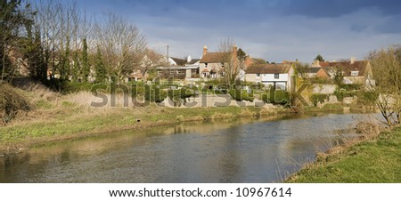 The village bidford on avon warwickshire the midlands england uk - stock photo