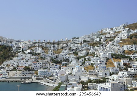 the village Chora on the greek island Astypalea