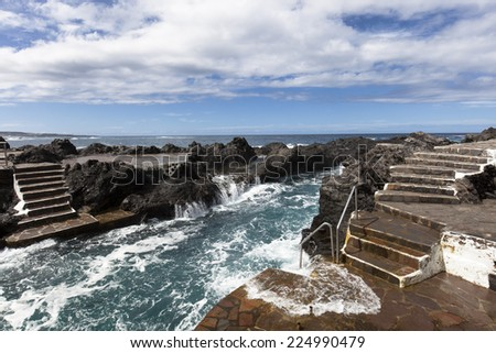 The village Garachico on the canary island tenerife - stock photo