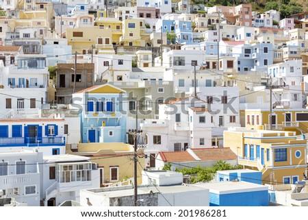 "The village ""Menetes"" on Karpathos island, Greece - stock photo"