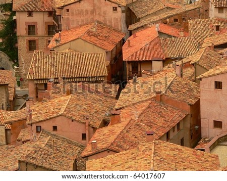 the village of albarracin in teruel in spain