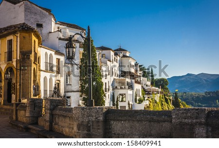 The village of Ronda in Andalusia, Spain.  - stock photo