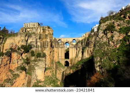 The village of Ronda in Andalusia, Spain - stock photo