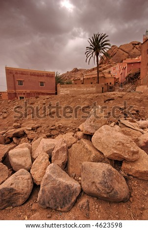 The village of Tafraout, Morocco - stock photo
