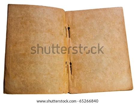 The Vintage book isolated on white background - stock photo