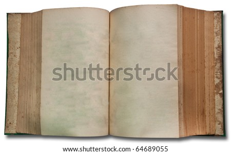 The Vintage book on white background - stock photo