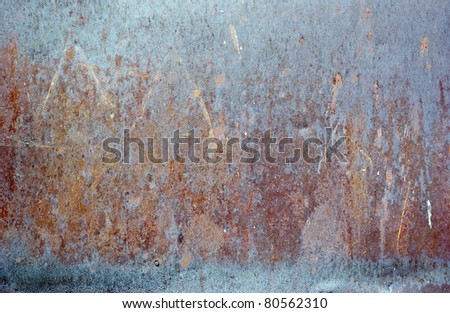 The vintage colored grunge iron textured background - stock photo