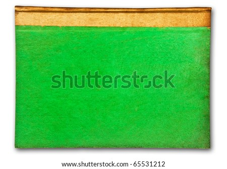 The Vintage green book isolated on white background - stock photo