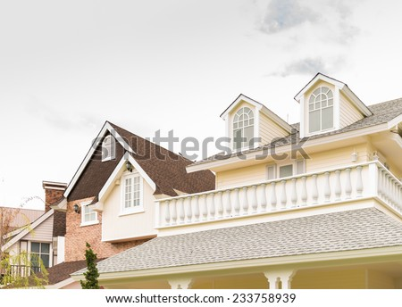 the vintage house with tile roof