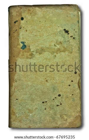 The Vintage notebook isolated on white background - stock photo