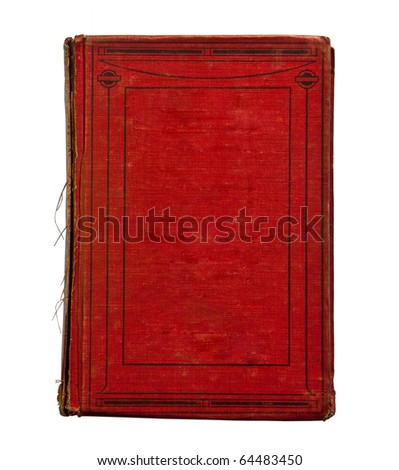 The Vintage red book isolated on white background - stock photo