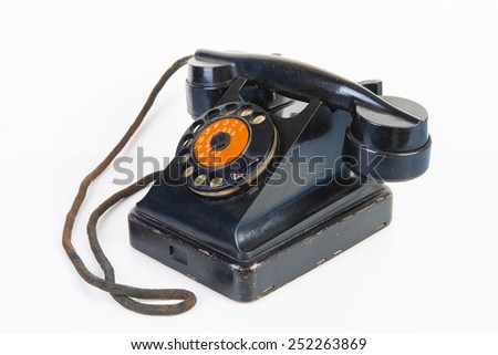 The Vintage rotary telephone