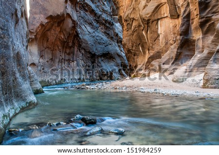 The Virgin River - Zion National Park - stock photo