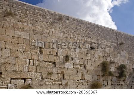 The Wailing Wall, Jerusalem, Israel(Western Wall) background - stock photo