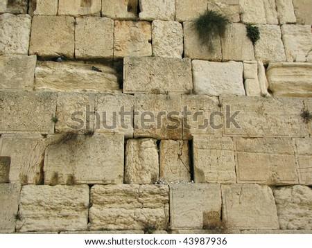 the wailing western wall, jerusalem, israel - stock photo