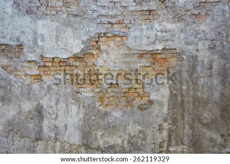 the wall old red brick - stock photo
