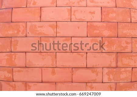 The wall that build from the red brick block.