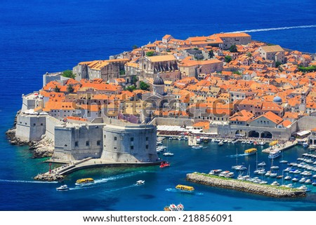 The walled city of Dubrovnik, Croatia - stock photo