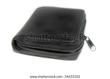 The wallet isolated on the white background