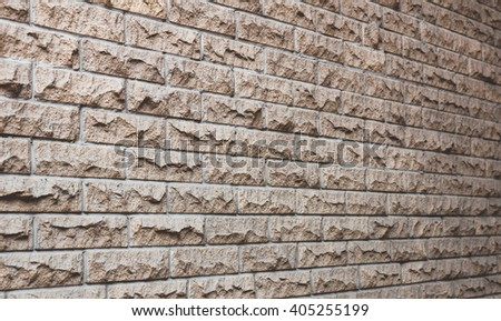 The walls are adorned with tiles - stock photo