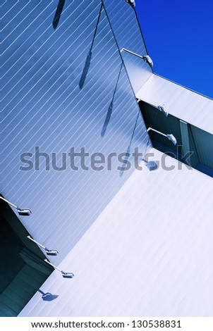 The walls are covered with metal panels