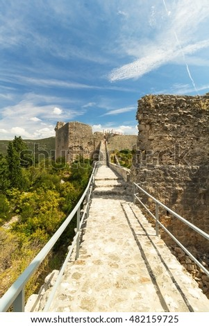 The Walls of Ston in summer day, Croatia, Europe