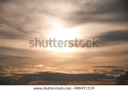 the warm sky when the sunset background