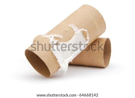 the wasting bath towel isolated white - stock photo