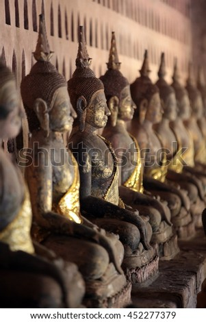 the Wat Si Saket in Vientiane in the capital city of lao.