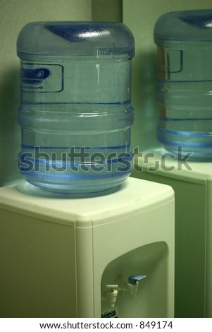 The water cooler - stock photo