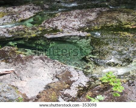 The water is Opal Creek's namesake. - stock photo