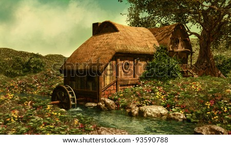 The Water Mill - stock photo