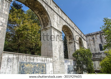 The Water Temple Amoreiras Reservoir Lisbon Portugal - stock photo
