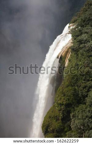 The waterfall Tamul, Huasteca potosina, Mexico - stock photo