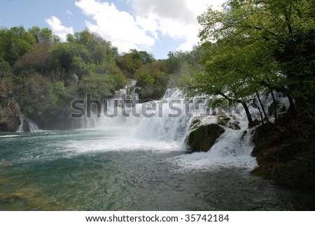 The waterfalls in the Krka National Park in Croatia.