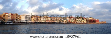 The waterfront at sunrise, Hania, Crete, Greek Islands