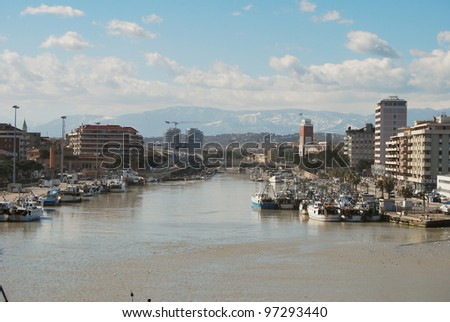 the waterfront, harbor and beach of Pescara