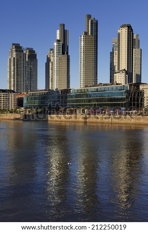 The waterfront in Puerto Madero, Buenos Aires - stock photo