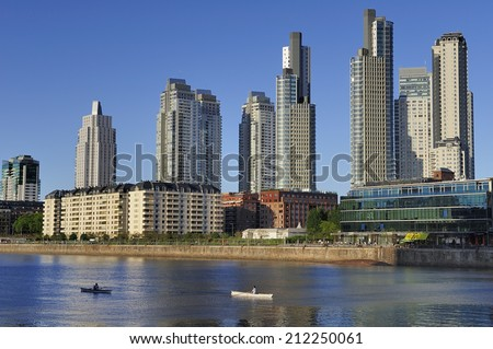The waterfront in Puerto Madero, Buenos Aires