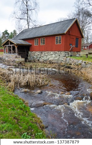 The watermill - stock photo