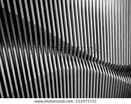 The wave pattern wood  wall abstract background - stock photo