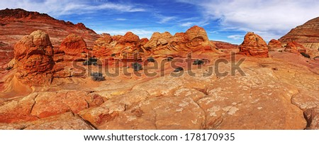 The Wave, Rock Formation at North Coyote Buttes in Utah USA