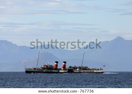 The Waverly paddle steamer - stock photo